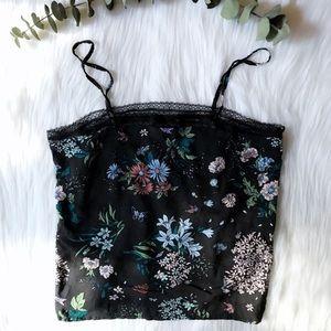Floral Top shop Intimates top NWT